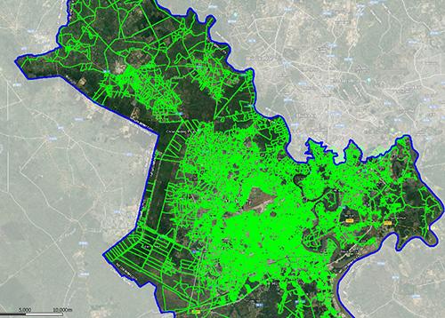 Bản đồ phủ sóng NB-IoT tại TP HCM của Viettel.