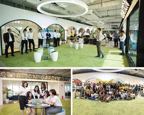 Một góc không gian eZONE - nơi học tập và làm việc của những tài năng trẻ trong hệ sinh thái của Apec Group.