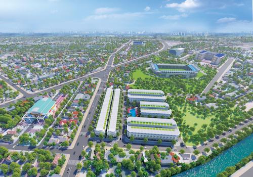 Dự án nằm gần khu trung tâm Tây Ninh, tiếp giáp 3 mặt tiền đường lớn.