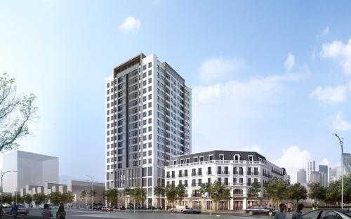 Phối 01 tòa chung cư cao 17 tầng với 117 căn hộ 48 nhà liền kề shophouse