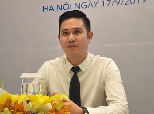 Ông Phạm Văn Tam - Chủ tịch HĐQT Công ty cổ phần tập đoàn Asanzo tại họp báo ngày 17/9. Ảnh: H.Thu