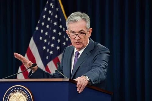 Chủ tịch Fed Jerome Powell trong họp báo tháng 8. Ảnh: Reuters
