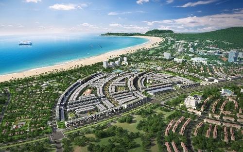 Phối cảnh dự án Nhơn Hội New City hướng ra biển Quy Nhơn.