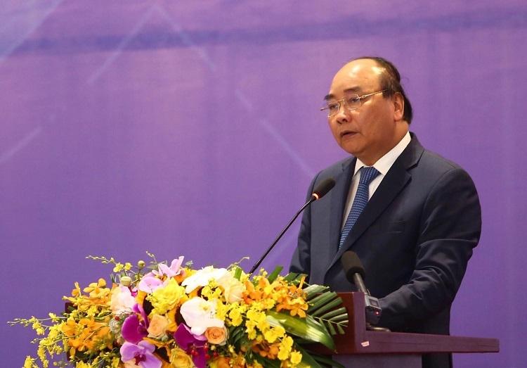 Thủ tướng Nguyễn Xuân Phúc tại Diễn đàn về Cải cách và Phát triển 2019. Ảnh: Lê Tiên