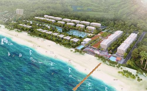 Tổng thể dự án khu nghỉ dưỡng tích hợp The Hamptons Hồ Tràm.