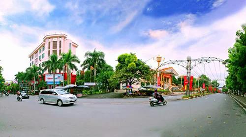 Một góc phố tại tỉnh Vĩnh Phúc. Ảnh: Báo Vĩnh Phúc