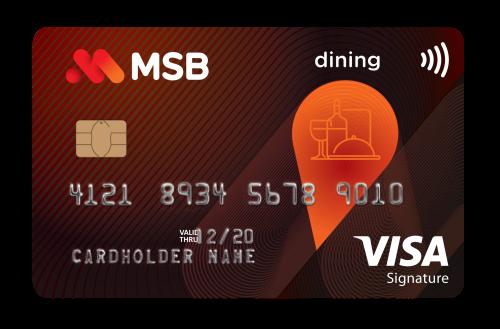 Thẻ Visa Signature Dining của MSB.