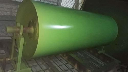Trục rulo sau khi được sơn phủ chống dính Teflon.