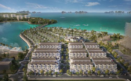 Phối cảnh Grand Bay Halong - Tổ hợp nghỉ dưỡng giải trí 5 sao ôm trọn tầm nhìnhướng ra miền di sản.
