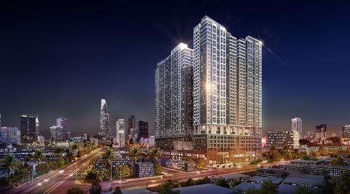 Phối cảnh tổ hợp căn hộ - thương mại dịch vụ hạng sang The Grand Mahattan tại quận 1, TP HCM.