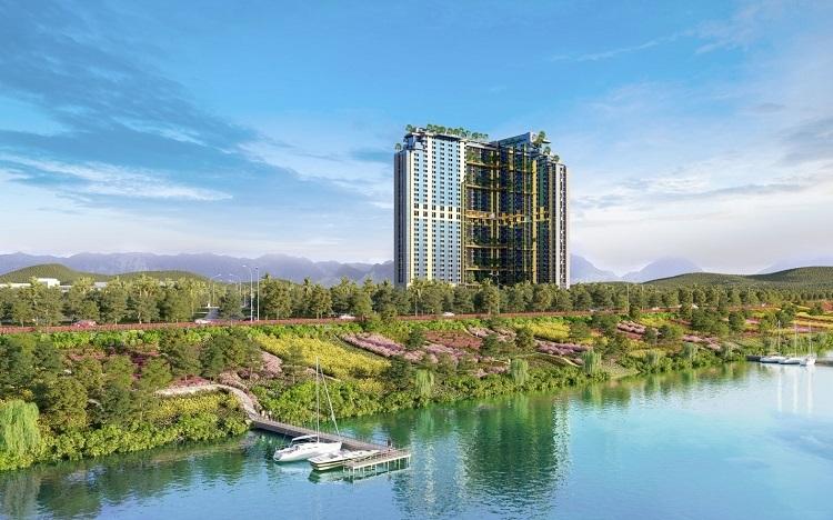 Phối cảnh căn hộ khách sạn dự án Wyndham Lynn Times Thanh Thủy