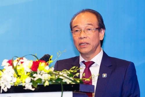 Ông Bùi Ngọc Bảo - nguyên Chủ tịch Petrolimex phát biểu tại cuộc gặp nhà đầu tư năm 2017. Ảnh: H.Thu