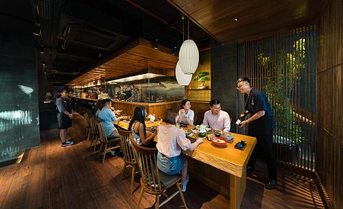 Một góc bên trong nhà hàng Kyo Watami đầu tiên tại Việt Nam. Ảnh: