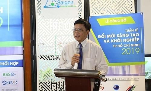 Ông Nguyễn Khắc Thanh - Phó giám đốc Sở KH-CNTP HCM công bố WHISE 2019. Ảnh; Thạch An