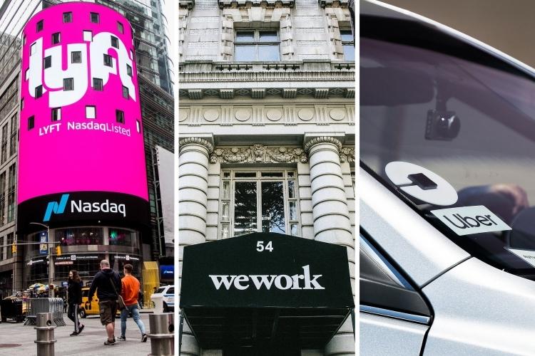 Nhà đầu tư đang hoài nghi về tương lai của Uber, Lyft hay WeWork. Ảnh: NYT