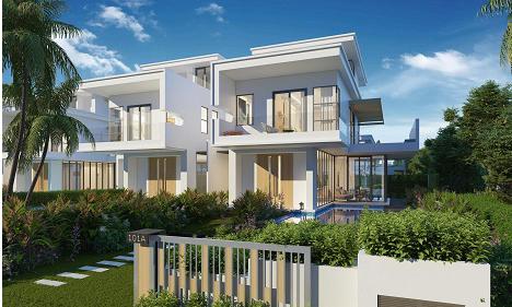 Phối cảnh các căn biệt thự thuộc phân khu Premier Village dự án Lagoona Bình Châu.