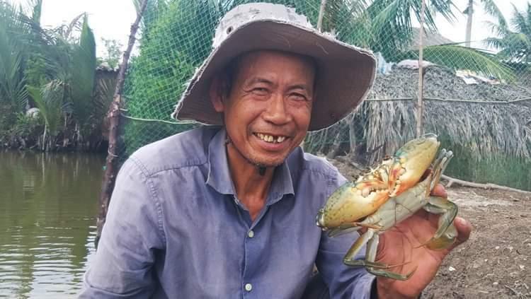 Cua tại hộ nuôi Nguyễn Văn Bá
