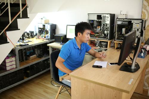 Võ Nguyễn bảo mật tuyệt đối dữ liệu của khách hàng và cam kết giá cứu dữ liệu máy tính tốt nhất. Ảnh: Võ Nguyễn.