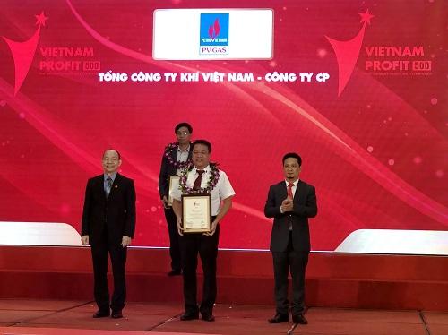 PV GAS nhận tôn vinh tại Profit500 năm 2018.