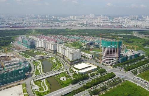 Khu đô thị Thủ Thiêm sau 22 năm quy hoạch. Ảnh: Quỳnh Trần