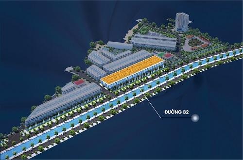 Đường B2 đi qua mặt tiền dự án Aroma Đồng Kỵ