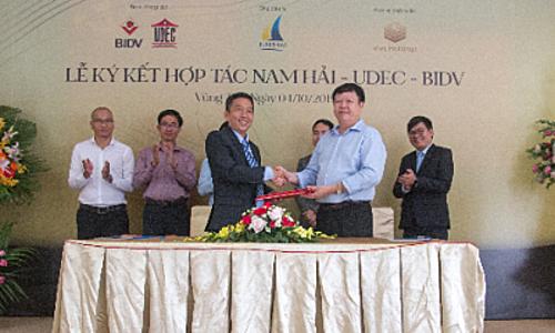 Lễ ký kết hợp tác chiến lược giữa Công ty Nam Hải và ngân hàng BIDV chi nhánh Bà Rịa - Vũng Tàu.