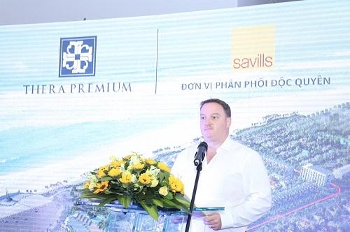Ông Neil MacGregor – Giám đốc điều hành Savills Việt Nam phát biểu tại sự kiện