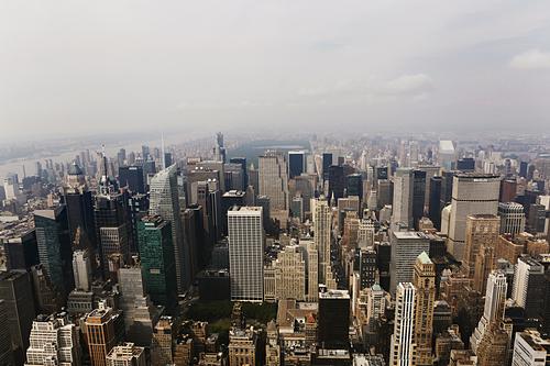 Thành phố New York của Mỹ nhìn từ trên cao. Ảnh: Reuters