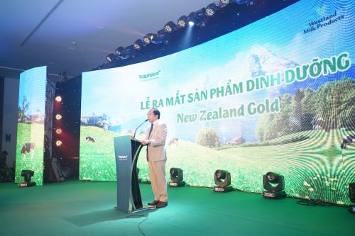 Ông Trần Túc Mã - Tổng Giám đốc công ty CP Traphaco phát biểu tại sự kiện.
