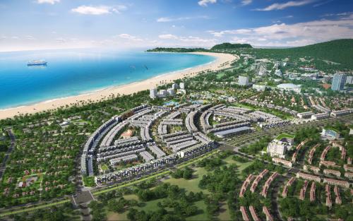 Phối cảnh khu đô thị sinh thái ven biển Nhơn Hội New City.