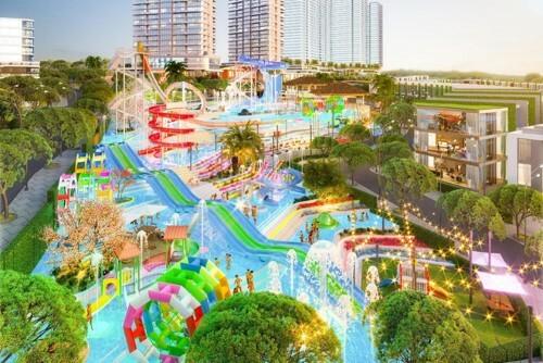 Phối cảnh khu đại công viên nước của Mũi Né Summerland Resort