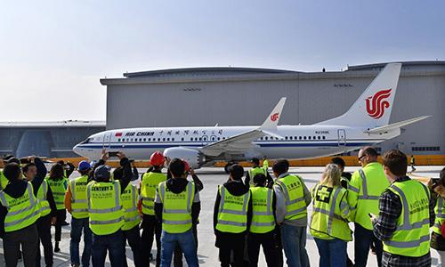 Một máy bay Boeing của hãng hàng không Air China. Ảnh: Bloomberg