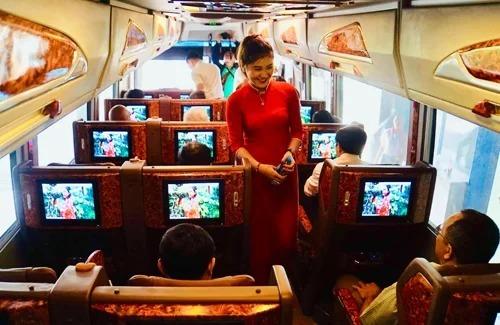 Bên trong tuyến bus Avigo Tân Sơn Nhất - Vũng Tàu khi trương vào 25/1/2019. Ảnh: Hữu Công