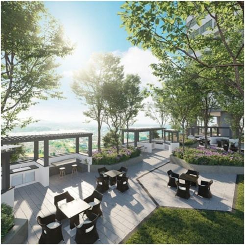 Park Kiara kế thừa thiết kế xanh của tổng khu đô thị với những khu vườn trên cao độc đáo