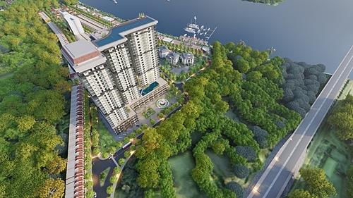 Phối cảnh trên cao của khu đô thị Nam Hội An.