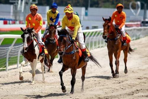 Kỵ sĩ đua ngựa tại trường đua Đại Nam, Bình Dương. Ảnh: Thành Nguyễn
