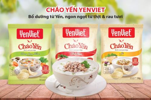 Sản phẩm cháo yếnYến Việt các vị đa dạng.
