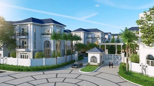 Phối cảnh khu biệt thự compound Sol Villas.