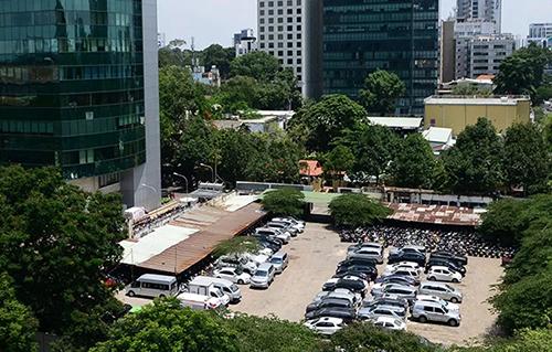 Lô đất của một doanh nghiệp doanh nghiệp nhà nước sau cổ phần hoá tại TP HCM. Ảnh: Như Quỳnh