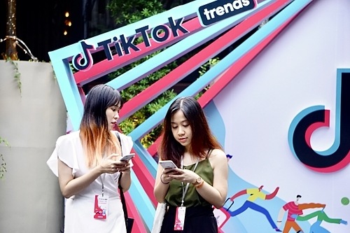 TikTok đã có 12 triệu người dùng thường xuyên hàng tháng ở Việt Nam. Ảnh: Viễn Thông