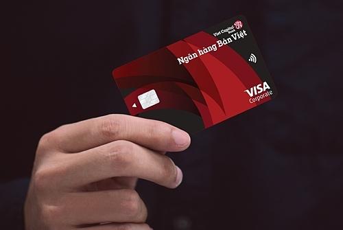 Thẻ Visa Corporate của Ngân hàng Bản Việt với nhiều ưu điểm.