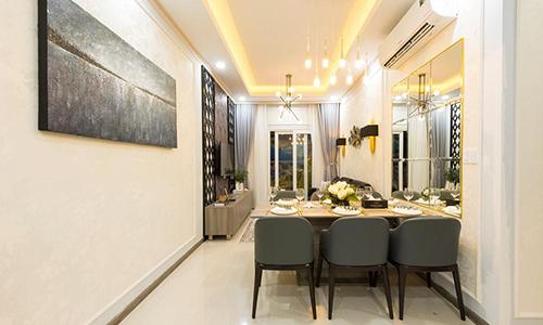 Không gian căn hộ mẫu tại 360 Xa lộ Hà Nội.
