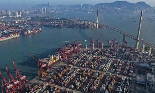 Khu vực cảng ở Hong Kong. Ảnh:Martin Chan/SCMP.