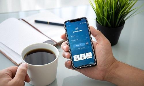 Giao diện ứng dụng Saigonbank Smart Banking.