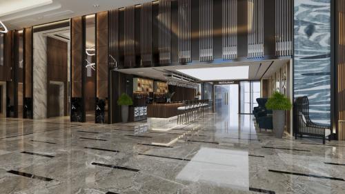 Phối cảnh khu vực sảnh khách sạn Ramada By Wyndham Ha Long By View.