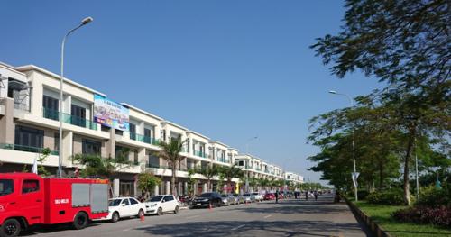 Hình ảnh thực tế khu shophouse 1 tại Centa City Bắc Ninh.