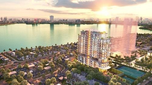 Five Star West Lake lấy ý tưởng thiết kế từ sóng nước hồ Tây.