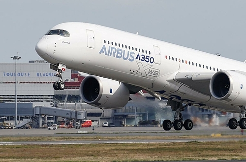 Một máy bay A350 của Airbus tại Pháp. Ảnh: Reuters