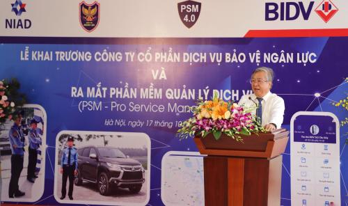 Ông Trần Xuân Hoàng, Phó Tổng Giám đốc ngân hàng BIDV phát biểu tại buổi lễ.