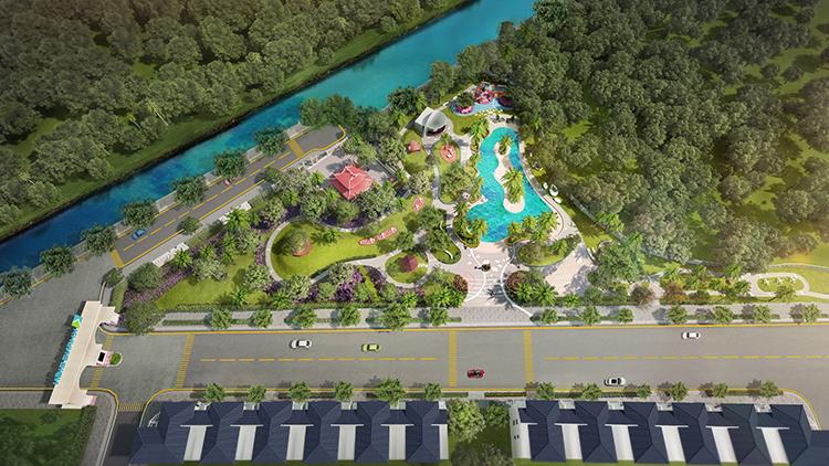 Verosa Park có quy mô 8,1hatrong đó diện tích không gian xanh lên đến 1,6ha.